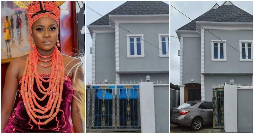 Actress Olayinka Solomon gets new house days after celebrating birthday (photos)
