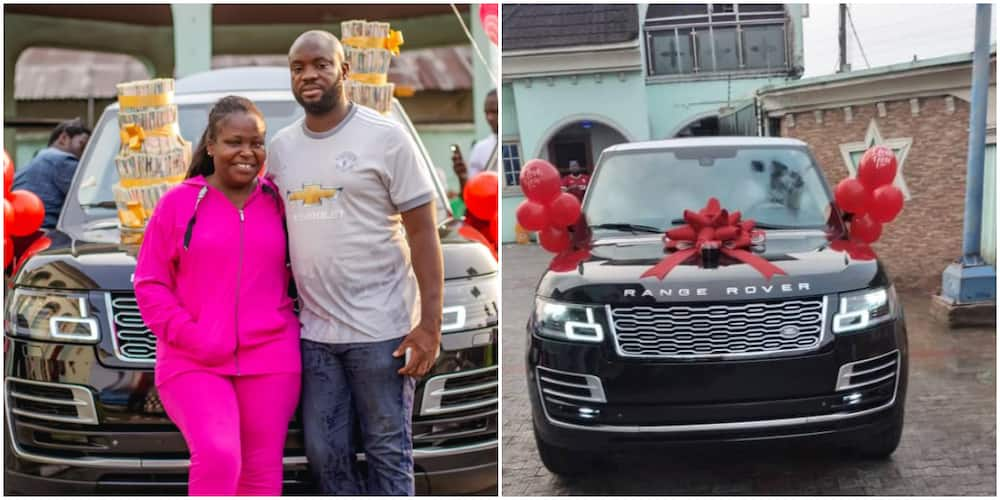 Warri based billionaire buys his wife a Range Rover for her birthday (photo)