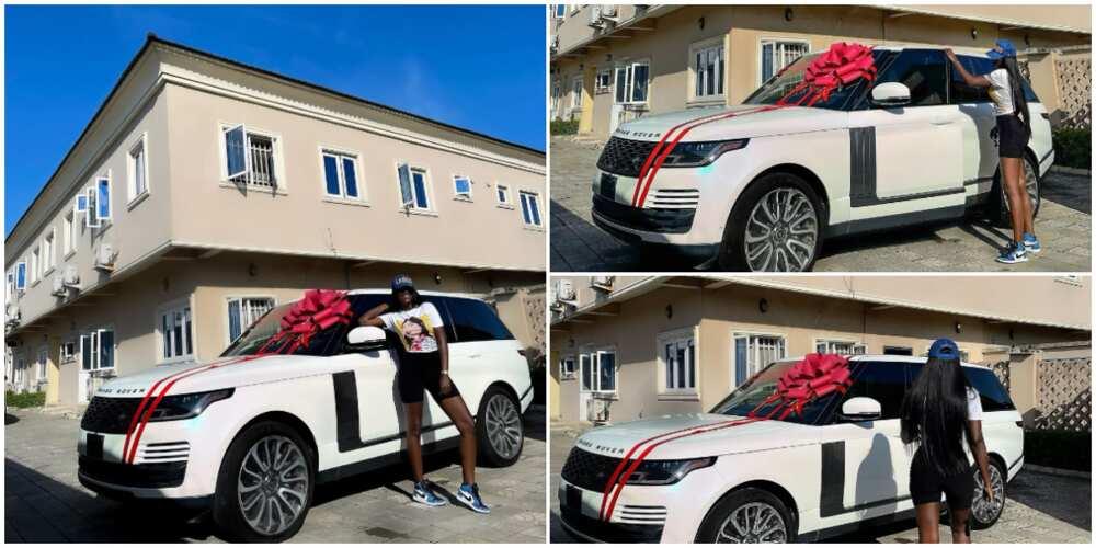 Fashion designer Tolu Bally buys new car.