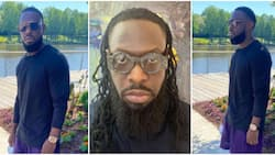 Singer Timaya shares photos of new look after cutting off dreadlocks, stirs reactions from Nigerians