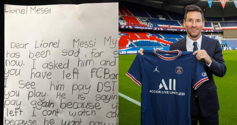Nhyira Asiedu: Ghanaian girl writes emotional letter to Lionel Messi; begs him to return to Barcelona