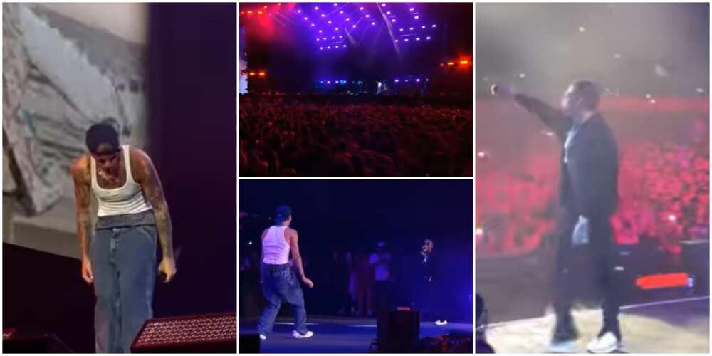 Wizkid and Justin Bieber perform Essence