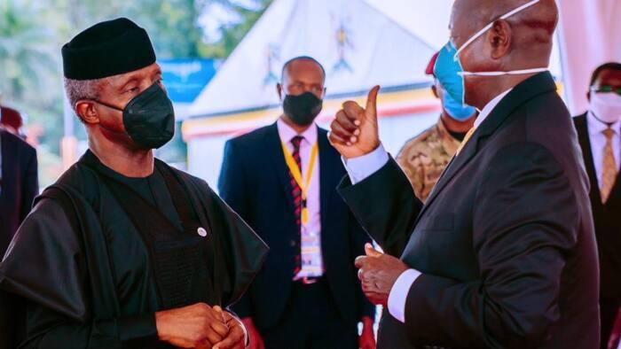 Photos show Osinbajo at inauguration of President Museveni in Uganda