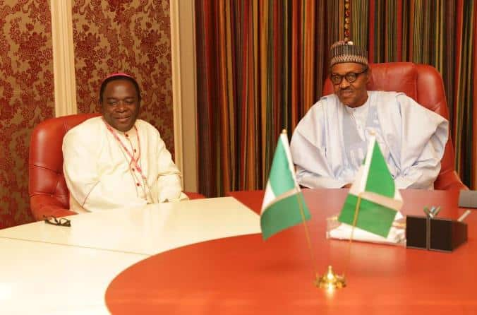 Kukah vs Buhari: Nigerians react to Arewa youths' call for cleric's arrest