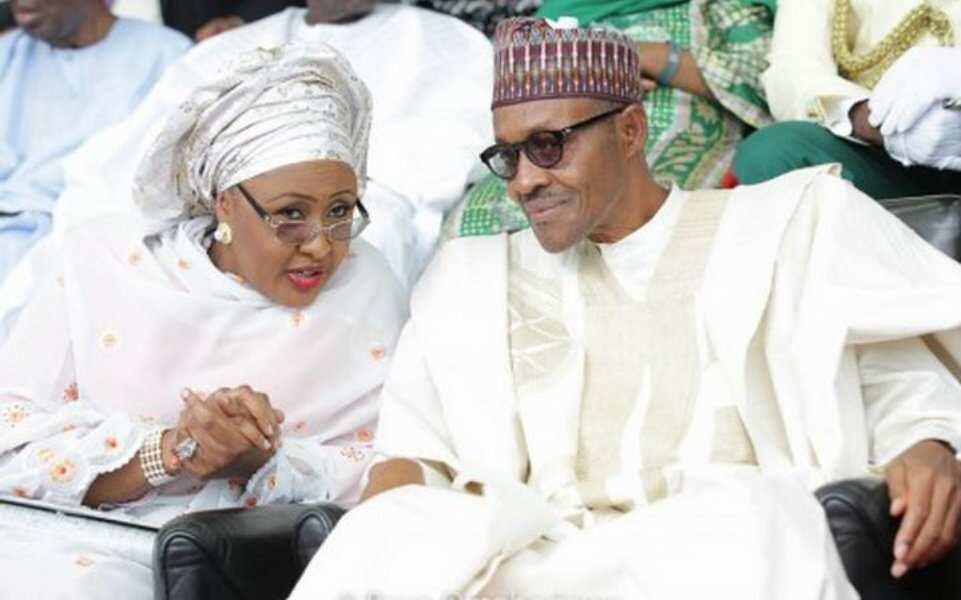 Muhammadu Buhari with wife