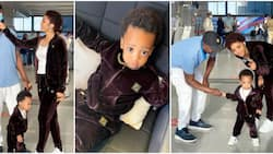 His dad thinks I can't do it, I will prove him wrong: Regina Daniels vacations with son without nanny