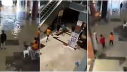 Drama as Port Harcourt Mall gets flooded after heavy rainfall, video stirs massive reactions