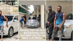 Singer Flavour massively comes through for his childhood friend, buys him a car