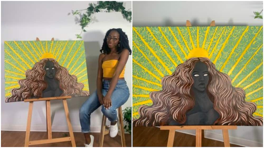 Check out photos of 'scary' painting this young lady made that got people talking