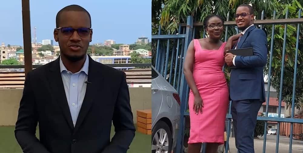 Umaru Sanda Amadu and the receptionist who submitted his letter