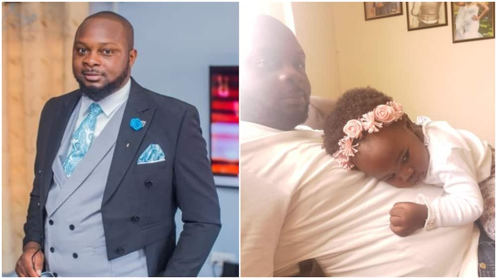 If I Reduce My Stomach Size, Where Will My Daughter Place Her Head? Dad Asks, Stirs Reactions With Photo