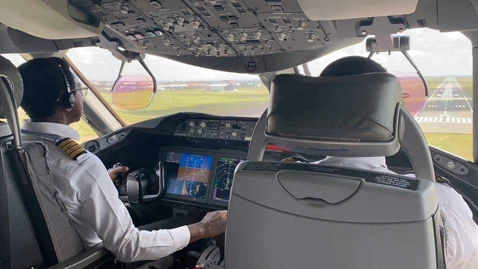 Like father, like son: Kenya Airways pilot operates his retirement flight with son