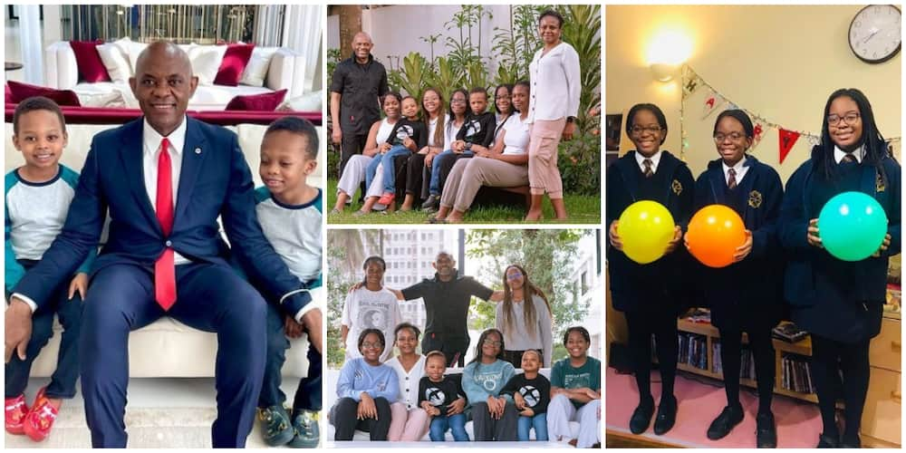 5 Times Billionaire Tony Elumelu gave rich family goals in adorable pictures with his children