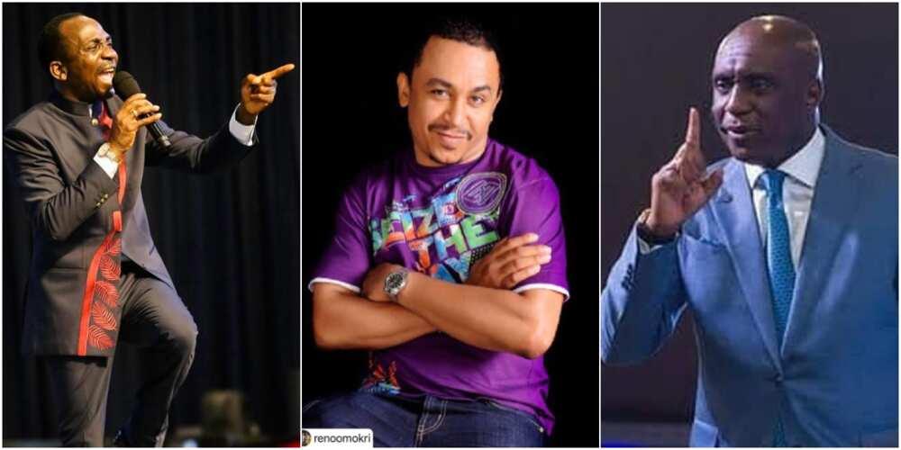 Pastor Paul Eneche, Daddy Freeze, and Pastor Ibiyeomie