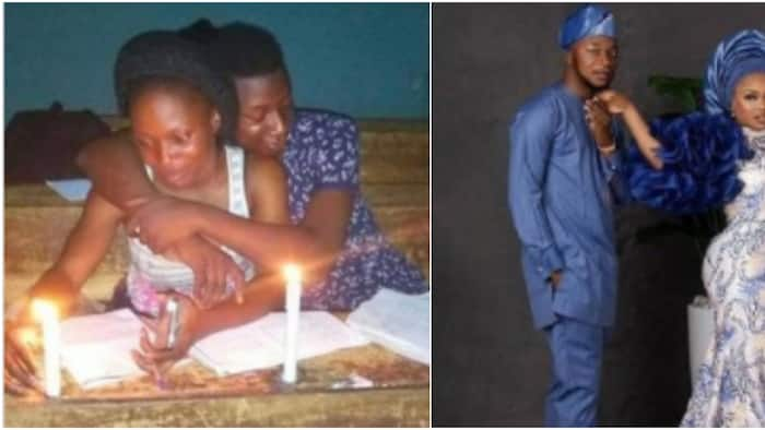 2 students who used to read together at night get married after graduation, adorable photos light up the net