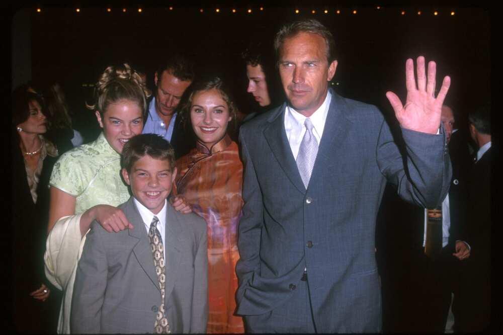 Kevin Costner et les enfants Lily, Annie, Joe (Photo de SGranitz/WireImage)
