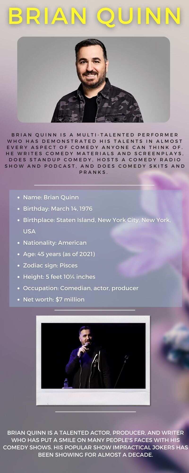 Jokers' Brian Quinn bio