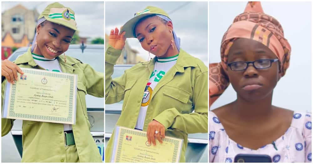 Instagram skit-maker Taaooma completes NYSC, poses with her certificate in cute photos