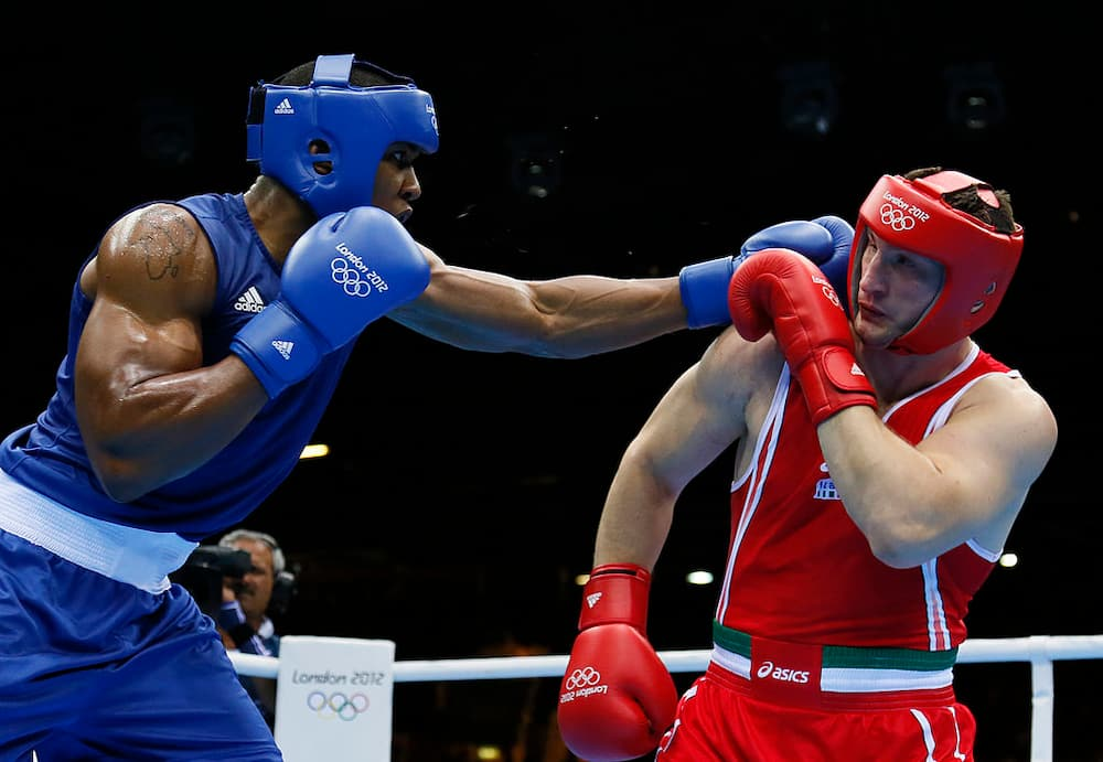 Anthony Joshua's victory in the Olympic 2012 final has been questioned by his Italian opponent Cammarelle