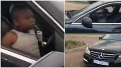 Mixed reactions as minor drives himself to school in luxury car (video)