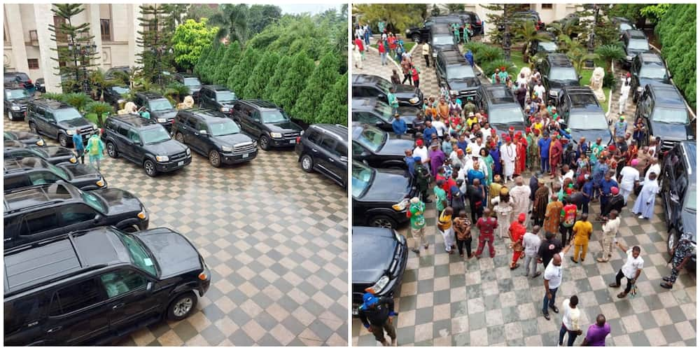 Social media reacts as Nigerian man stuns 23 persons with new cars on his birthday