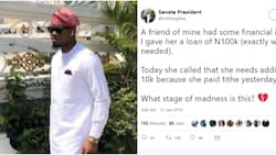 Man narrates how his friend who had financial issues gave tithe from the money he borrowed her