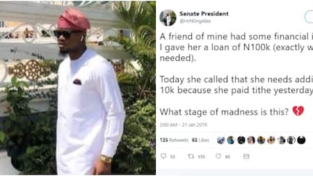 Man recounts experience with his female friend, says she paid tithe from money he loaned her