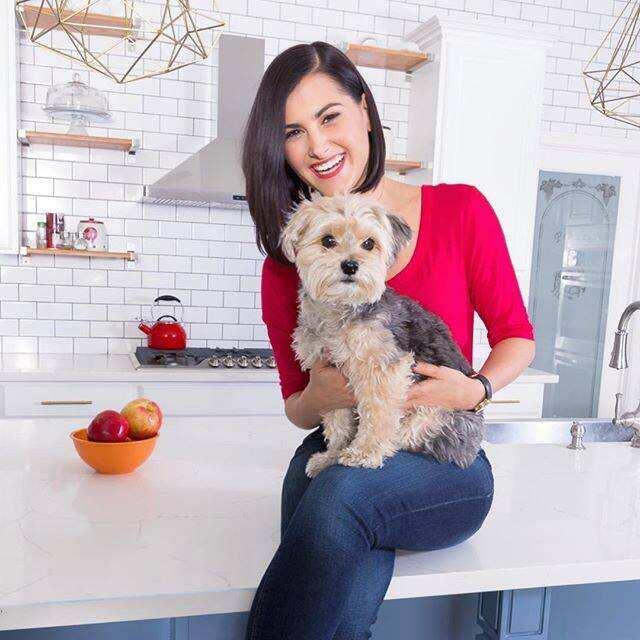 Megan Olivi with her dog