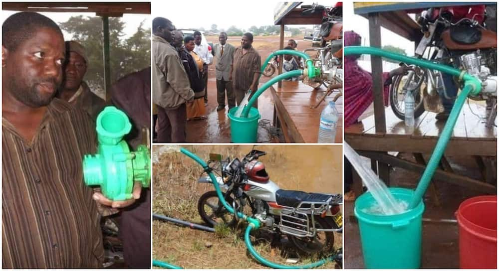 Amazing Photos Show Okada's Engine Serving as Pumping Machine for Farmers, People Praise it