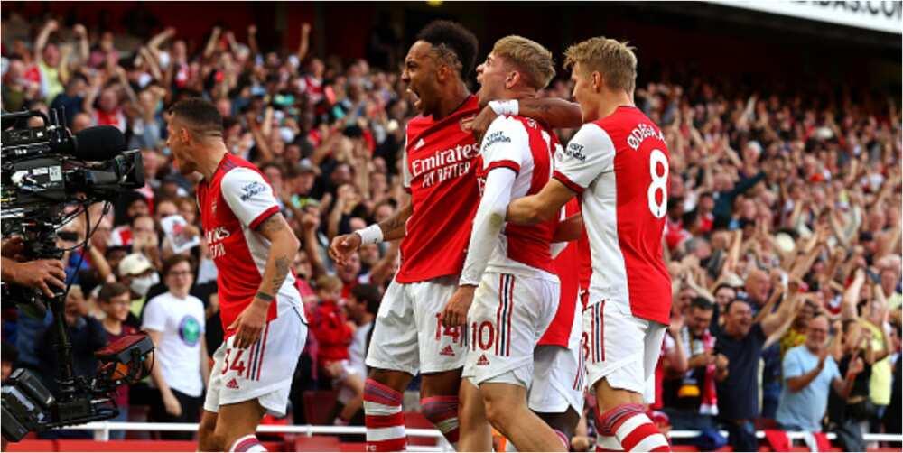 Arsenal vs Tottenham: Smith-Rowe, Aubameyang, Saka score in 3-1 win