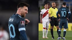 Lionel Messi 'attacks' referee after Argentina struggle against Peru in World Cup qualifier
