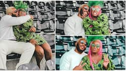 Kidddwaya places a cute kiss on DJ Cuppy's cheek in adorable photos, fans react, tell billionaire kids to date