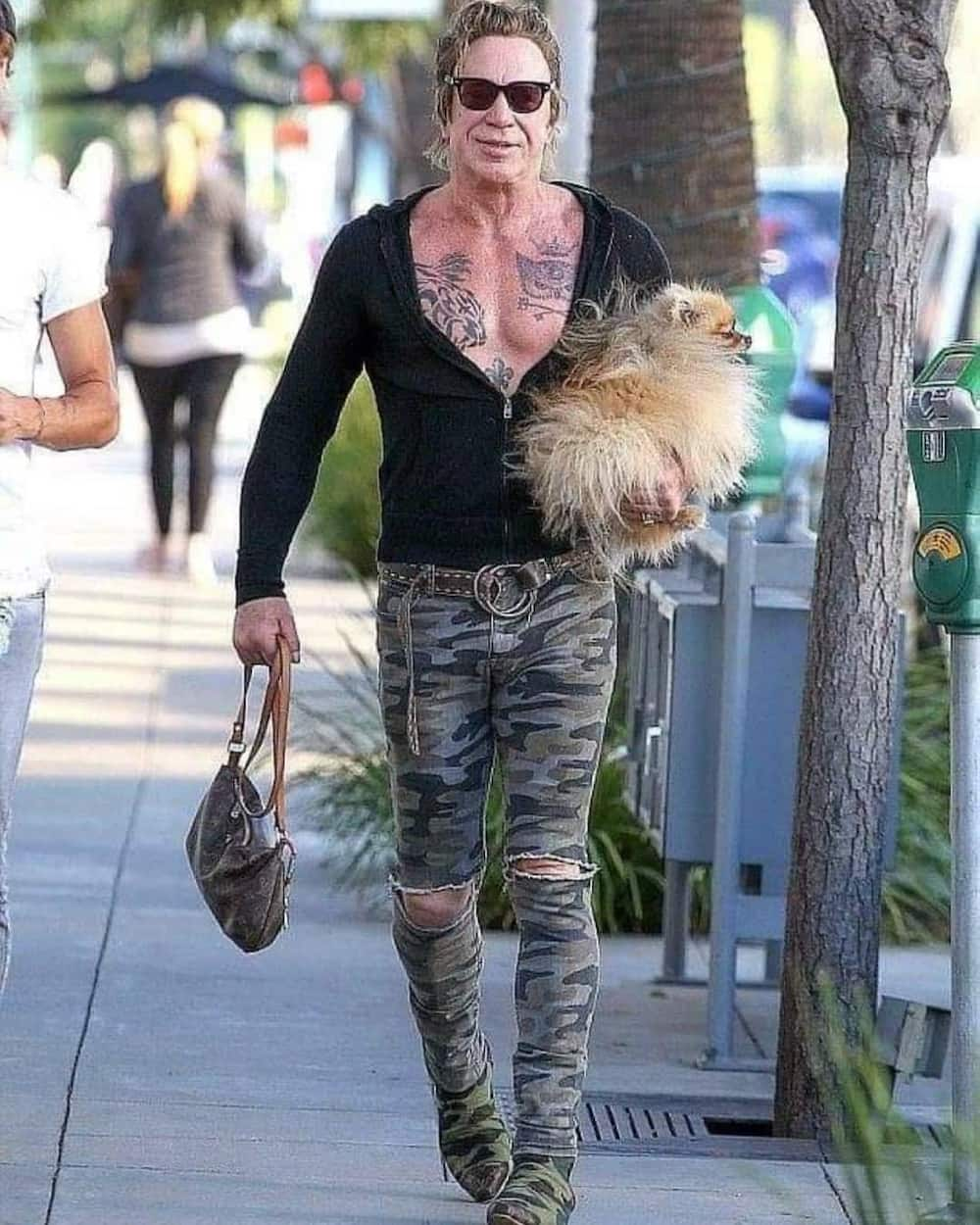 Mickey Rourke then and now