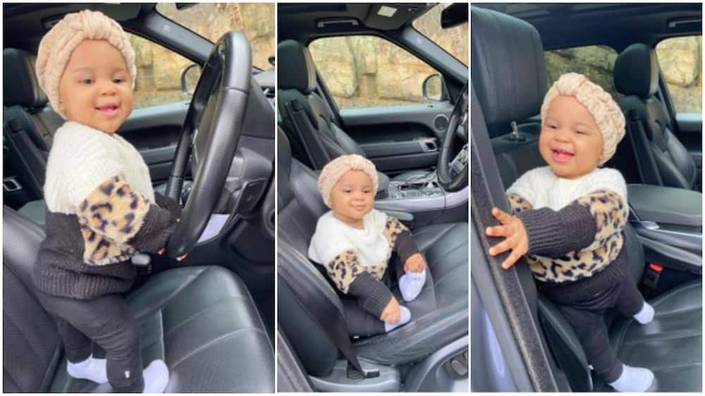 Little girl poses in dad's car, her photos generates reactions online