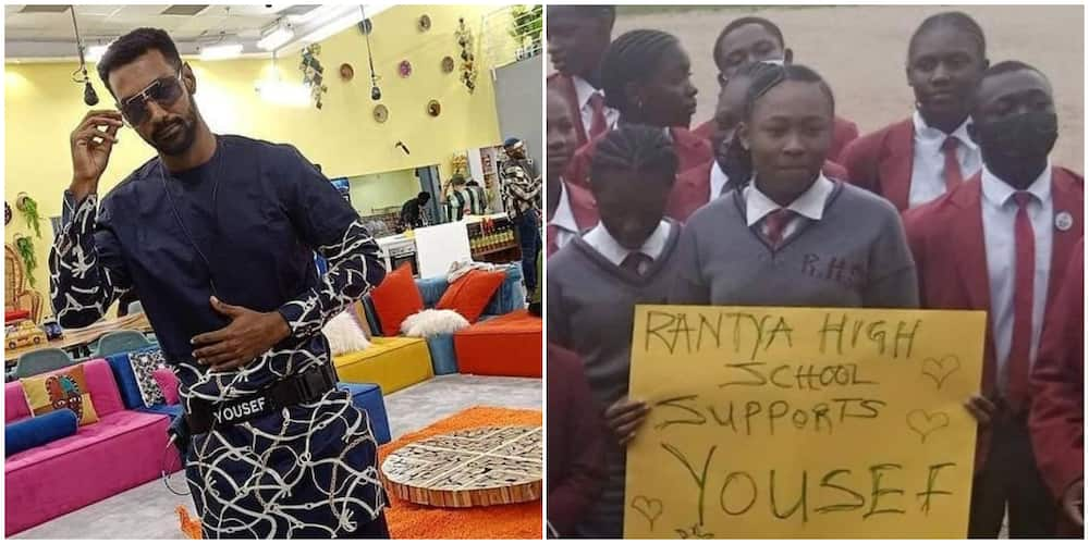 BBNaija: Yousef's students show support for him.