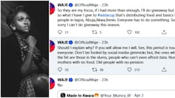 This period is tough for everyone - Singer Waje says as she shares reasons for not doing COVID-19 giveaway