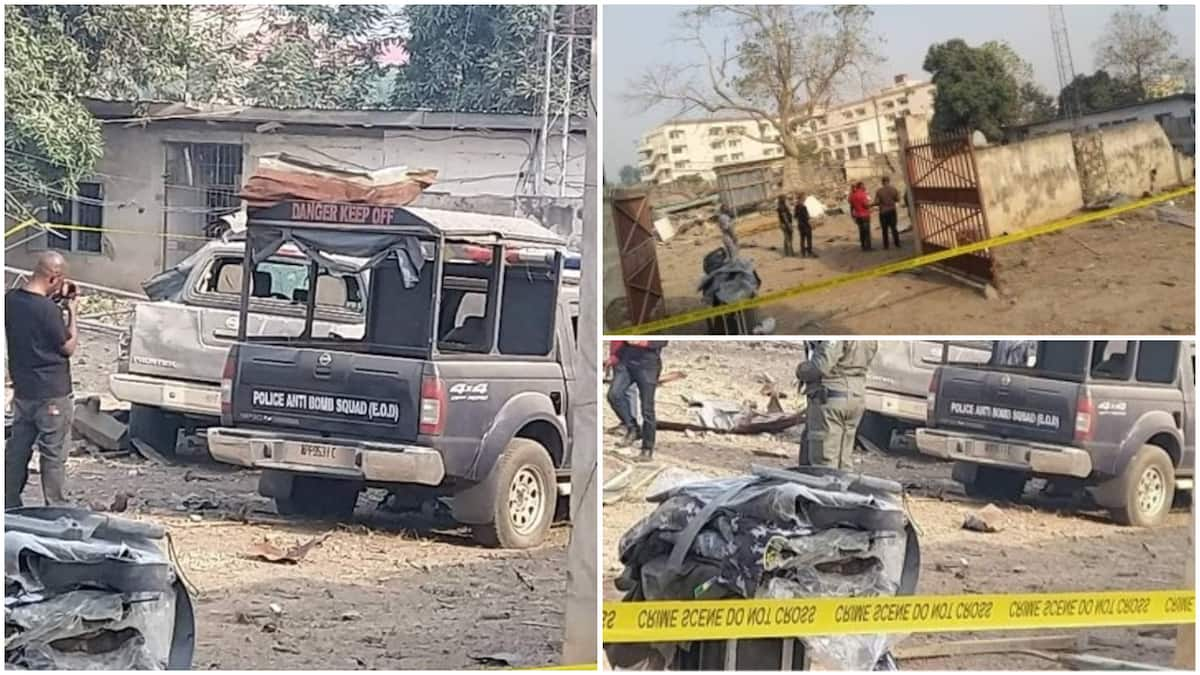 Image result for Bomb explosion near Ekiti government house