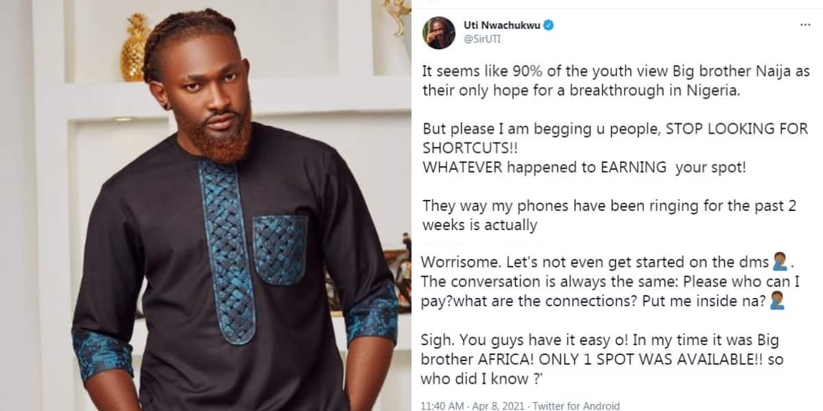 90% of young people see BBNai as the only breakthrough: Uti Nwachukwu addresses fans who are desperate to join the show ▷ news from Nigeria