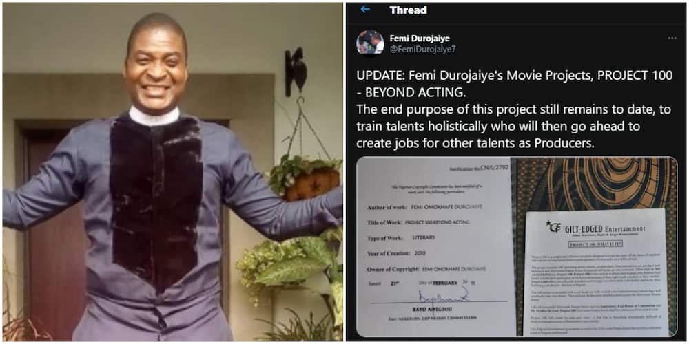 N35k for roles: Femi Durojaiye debunks rumours, says his project trains talents and create jobs