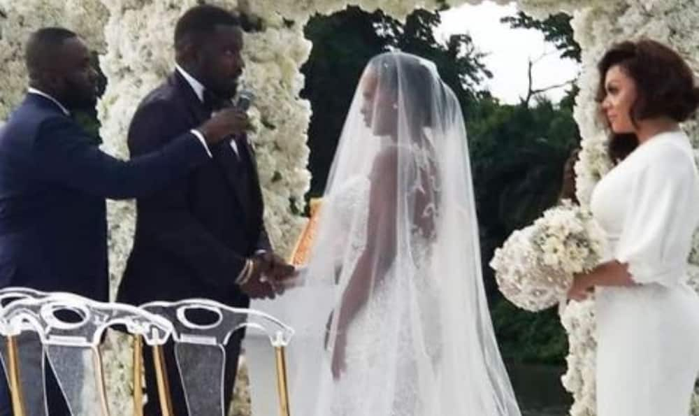 Image result for john dumelo s white wedding to gifty