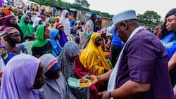 Okorocha visits IDP camp, promises to build new school for displaced kids