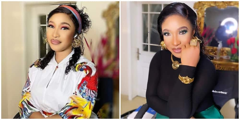 Tonto Dikeh vows to sue blogger who linked her with 'pro-government protest'