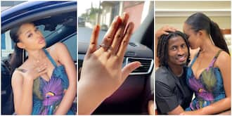 Actress Yetunde Barnabas gets engaged to footballer boyfriend (photos)