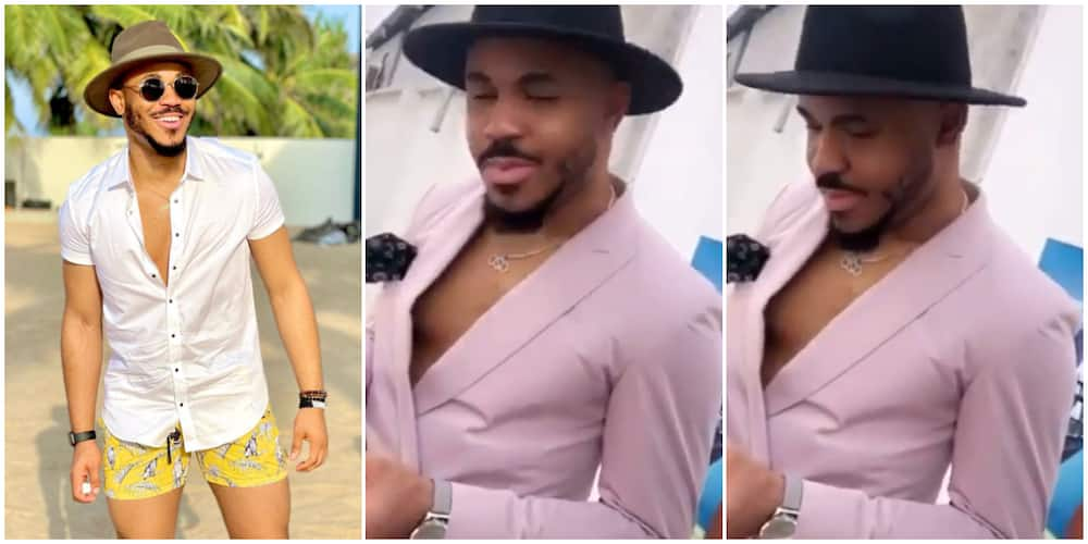 You Look Like Sister Nkechi, Trolls Reap BBNaija's Ozo Apart over Blazer and Hat Outfit