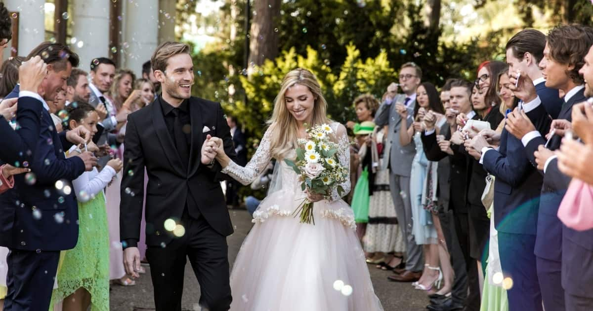 PewDiePie wedding: see the gorgeous photos of groom and bride