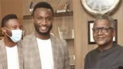 Nigeria's richest player Mikel meets billionaire Aliko Dangote, makes stunning statement on their meeting