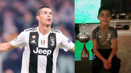 Ronaldo posts picture of his son posing with trophy he won with Juventus U9s