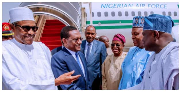 BREAKING: President Buhari Holds Closed-Door Meeting with Chadian Leader in Abuja