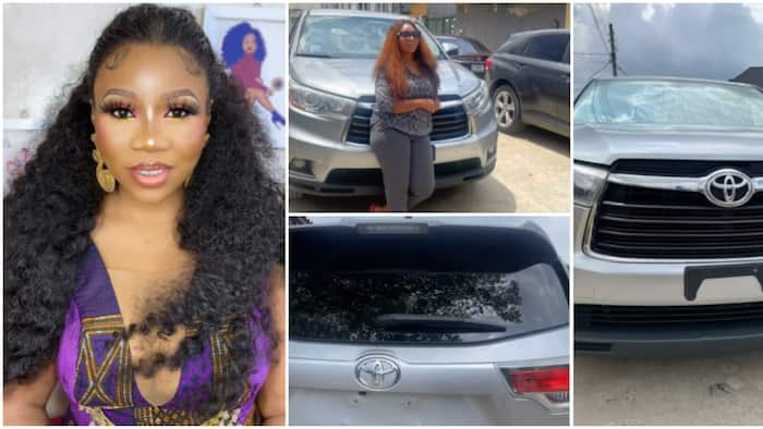 Hard work and grace: Congratulations pour in for actress Wumi Toriola as she buys new Toyota SUV