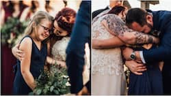 9-year-old bursts into tears as her stepfather recites vow of promise to her on his wedding day to her mother
